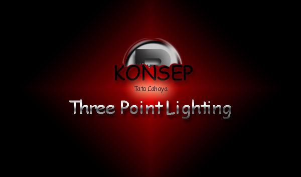 Konsep Tata Cahaya Three Point Lighting