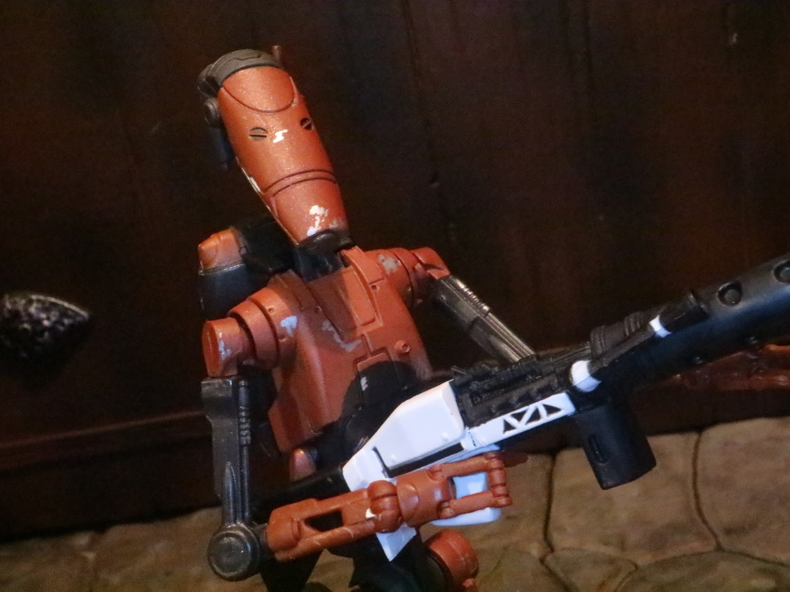 Action Figure Barbecue Action Figure Review Heavy Battle Droid From Star Wars The Black Series Phase Iii By Hasbro