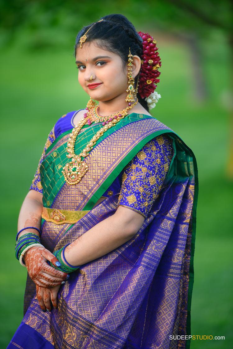 Saree Ceremony Photography by Ann Arbor Novi Indian Hindu Event Photographer