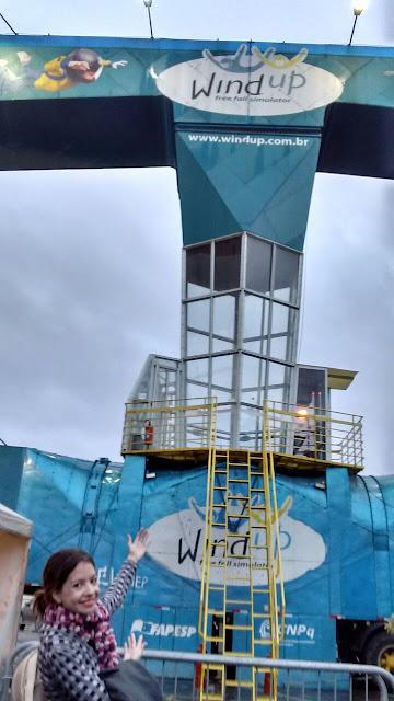 Wind up, Shopping D, simulador de queda livre, túnel de vento, paraquedismo indoor, como voar, salto de paraquedas, queda livre de salto de paraquedas