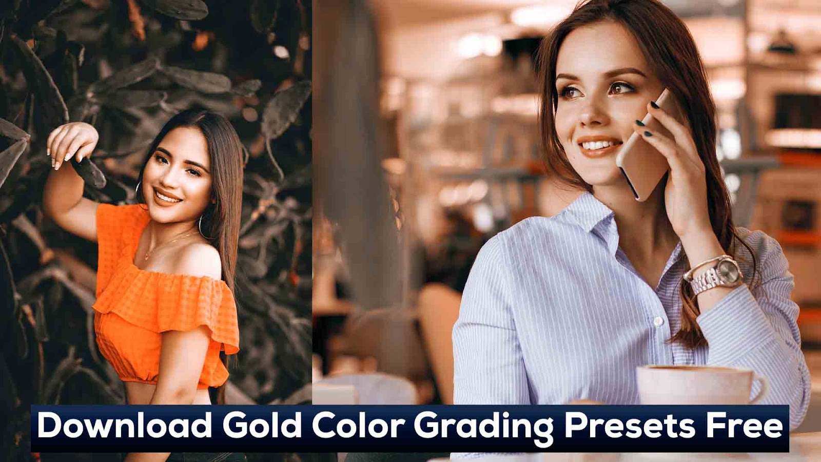 Gold Color Grading Effect in Photoshop CC - Download Gold Color Grading Presets Free
