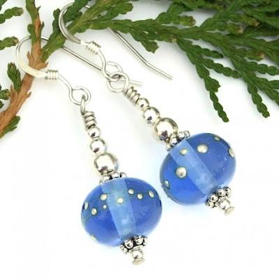 blue earrings for women