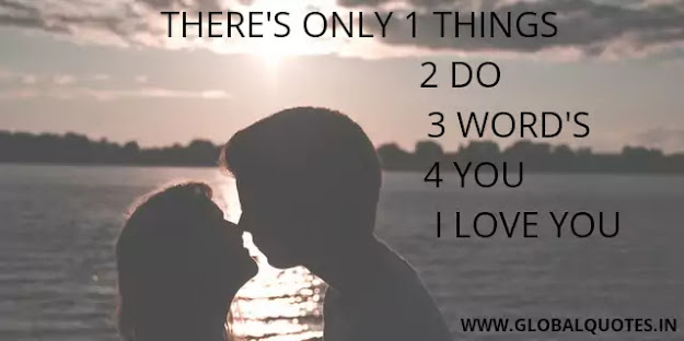 """There's only one thing 2 do 3 words 4 you """"I want you""""."""