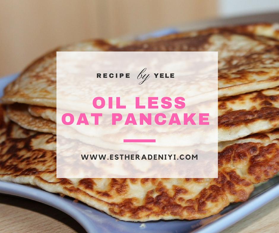 oil less oat pancake