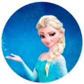 Oblea para tartas Frozen con Elsa