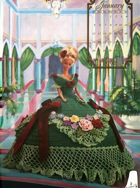Vestido de Crochê Para Barbie - The Cotillion Collector 1992 - Annie Potter