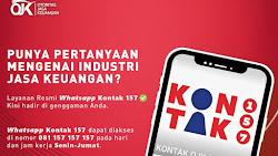 Info Layanan Kontak Whatsapp 157 OJK