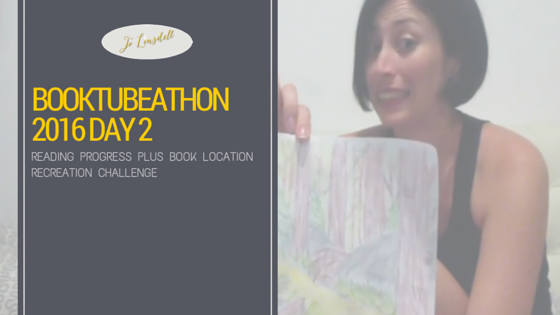 #BookTubeAThon Day 2: Reading Progress PLUS Book Location Recreation Challenge