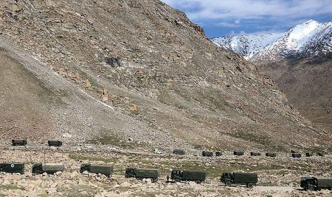 China withdrew its 10,000 soldiers in Ladakh