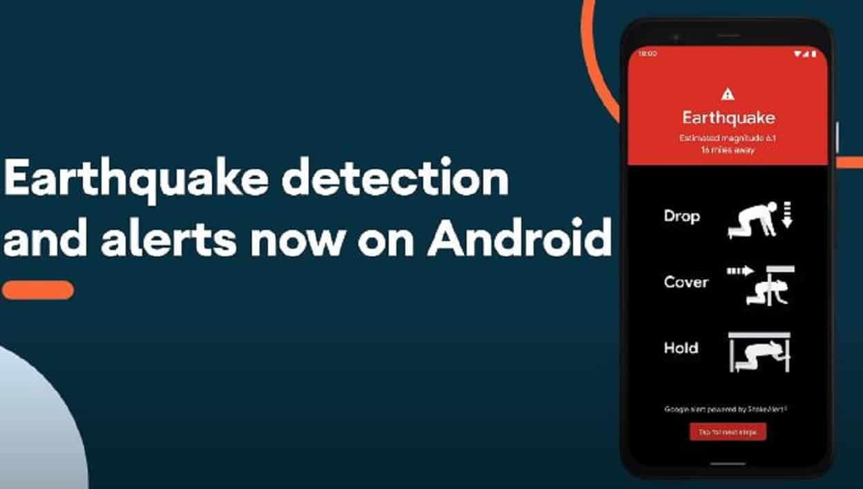 Android phone will detect earthquake