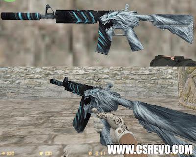 Skin M4A4 - Snow Beast KingSnake (CS:GO) - HD para CS 1.6, m4a1 csgo