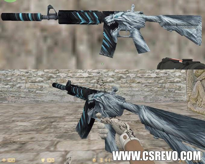 Skin M4A4 - Snow Beast KingSnake (CS:GO) - HD para CS 1.6