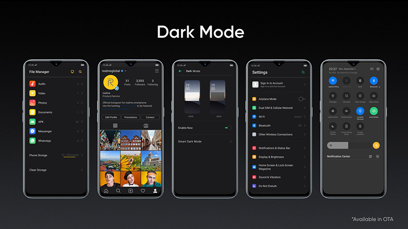 System-wide dark mode soon