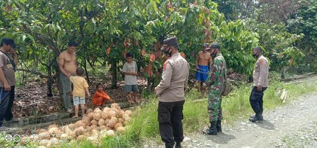 Kapolsek Bupon Bersama Babinsa 1403-04 Padang Sappa Melakukan Patroli Covid-19