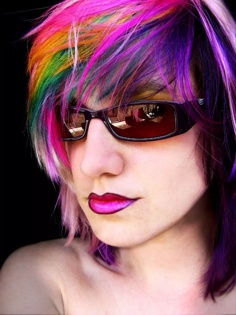 rainbow pink ombre hairstyle