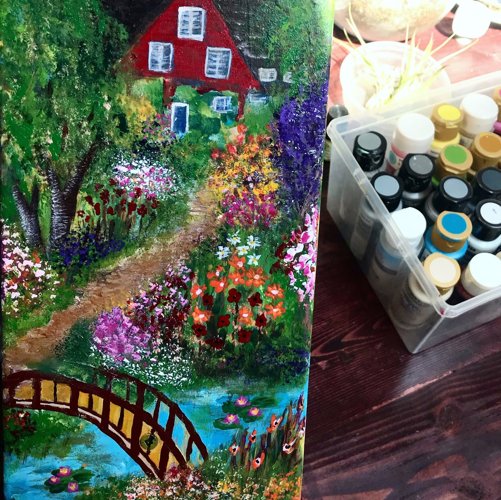 Create With Mom Painted Bird House