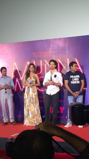 Tiger Shroff and Nidhhi Agerwal arrive for the trailer launch of their film 'Munna Michael'