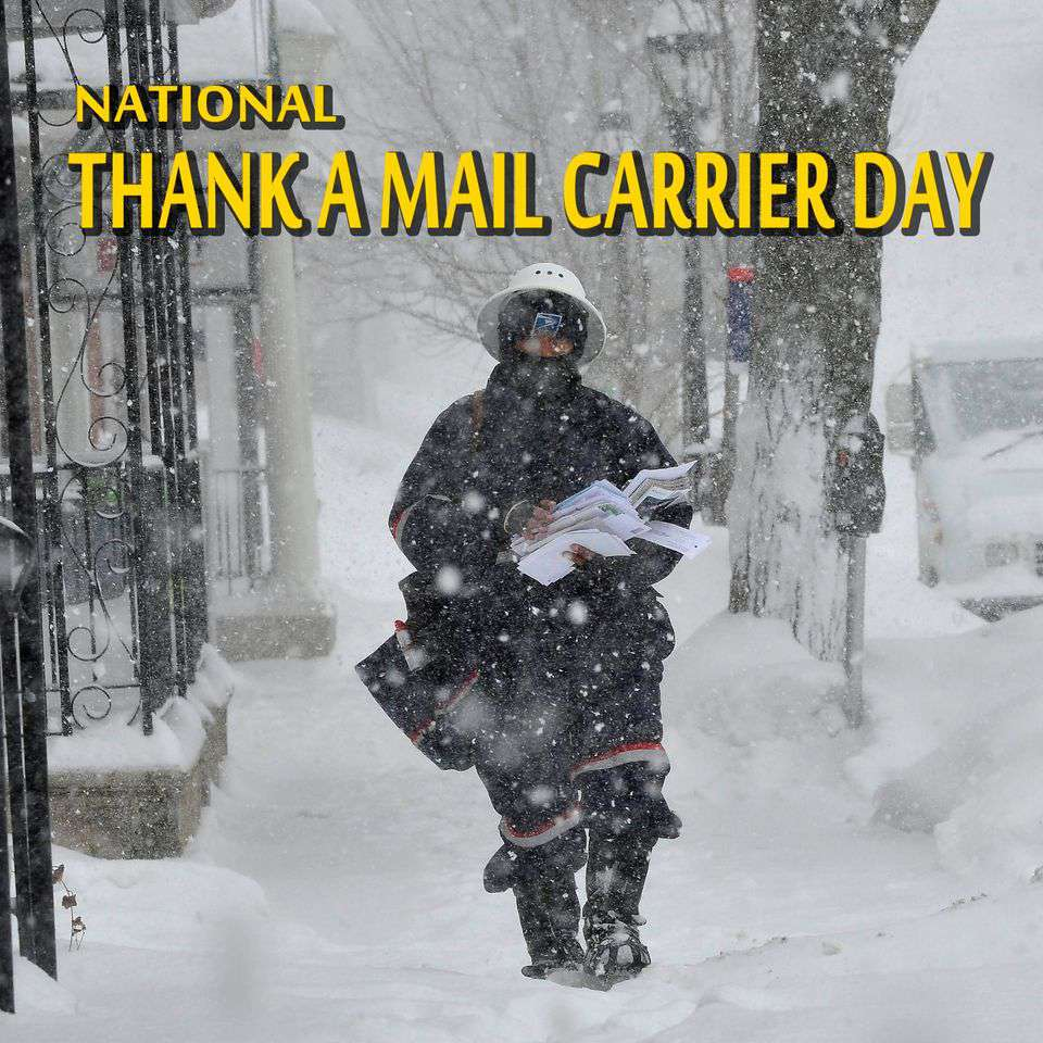 National Thank a Mail Carrier Day Wishes Pics