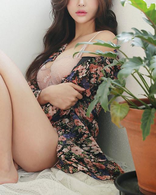 jin hee pink lingerie sexy korea