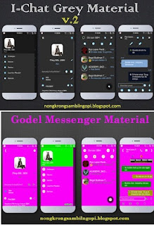 Update Mod BBM New Themes Material Based v2.9.0.49 Apk [i-Chat]