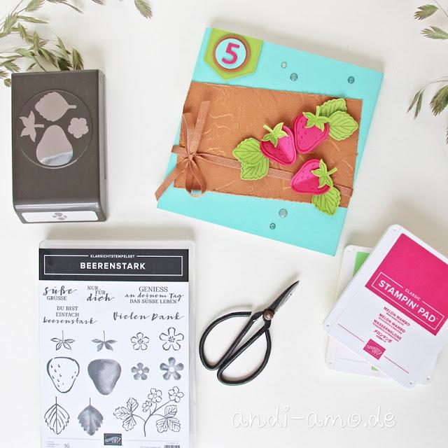 Stampin Up Produktpaket Beerenstark mit Stanze Erdbeere