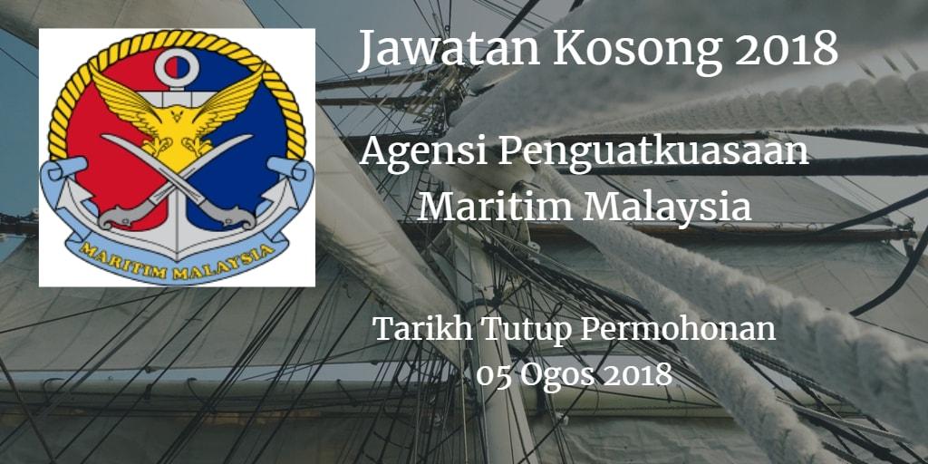 Jawatan Kosong Agensi Penguatkuasaan Maritim Malaysia 05 Ogos 2018