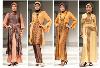 4 desain gamis batik muslimah