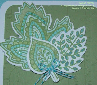 Stampin' Up! Made by Susan Simpson (Merrey) Independent Stampin' Up! Demonstrator, Craftyduckydoodah!, Lighthearted Leaves, Woodland TIEF
