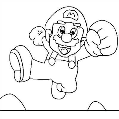 mario brothers sunshine coloring pages - photo#21