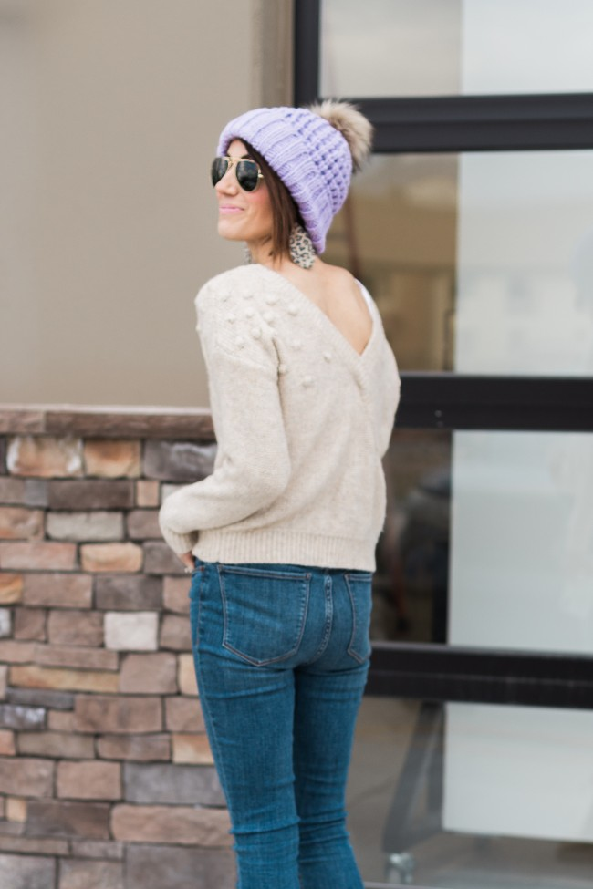 Abercrombie & Fitch Reversible Bobble Sweater
