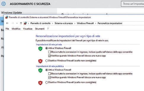 Come attivare e disattivare Firewall