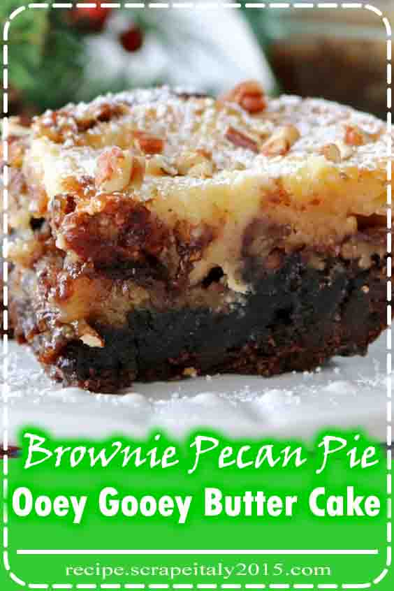 Brownie Pecan Pie Ooey Gooey Butter Cake