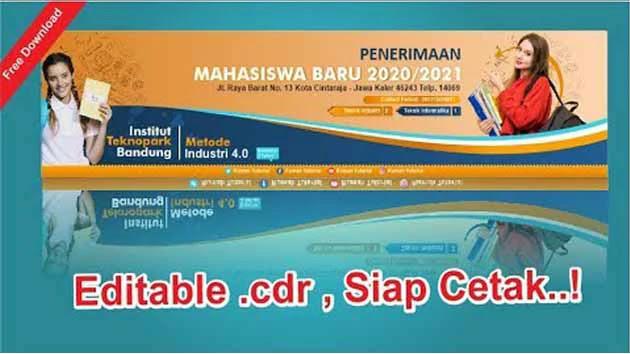 Kumpulan Banner Penerimaan Siswa Baru CDR CorelDraw