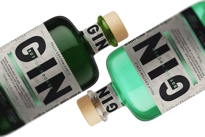Gin Bottle Mockup 4563214