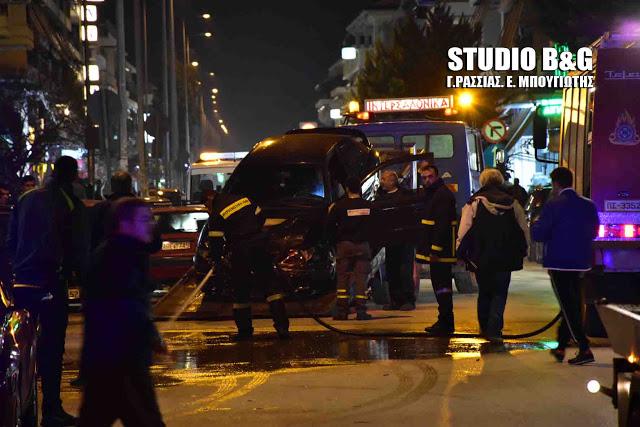Ναύπλιο: Σοβαρό τροχαίο με καραμπόλα τεσσάρων αυτοκινήτων