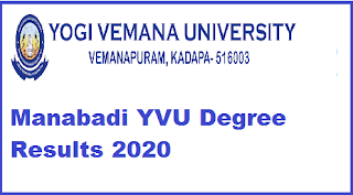 Manabadi YVU Degree Results 2020