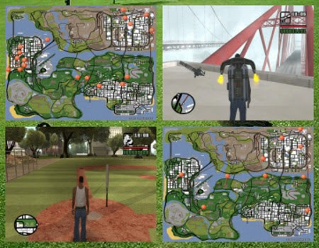 Download Daftar & Peta Lokasi Senjata & Item GTA San Andreas