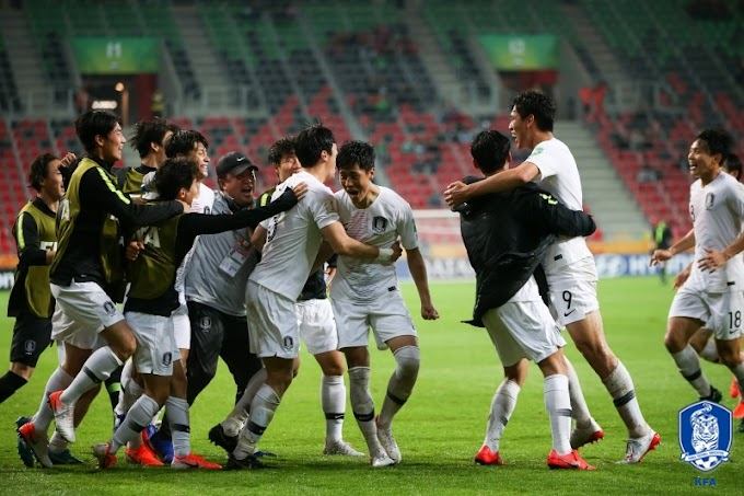 Korea Under 20s win at the World Cup