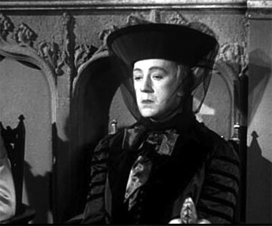 Alec Guinness femulating in the 1949 British film Kind Hearts and Coronets.