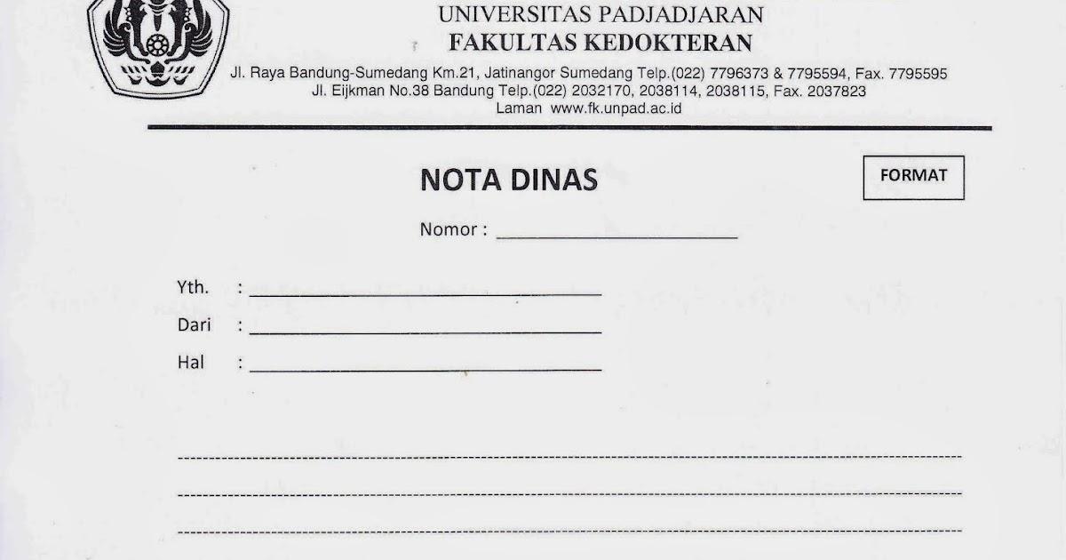 Contoh Nota Dinas Dan Formatnya Murad Maulana