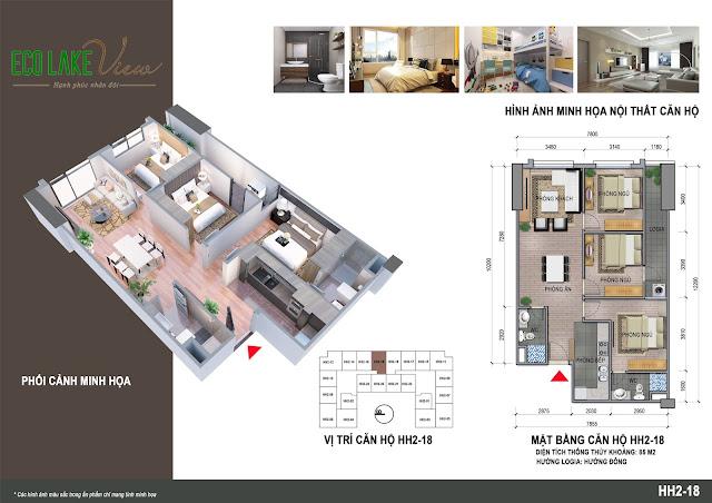 Thiết kế căn hộ A4 - 18 Eco Lake View