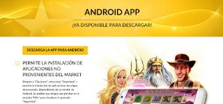 página de android app de starvegas