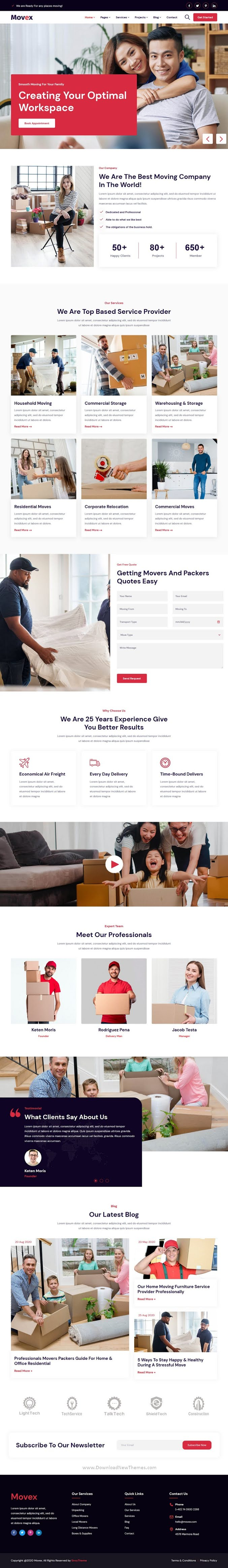 Moving & Renovation Services Template