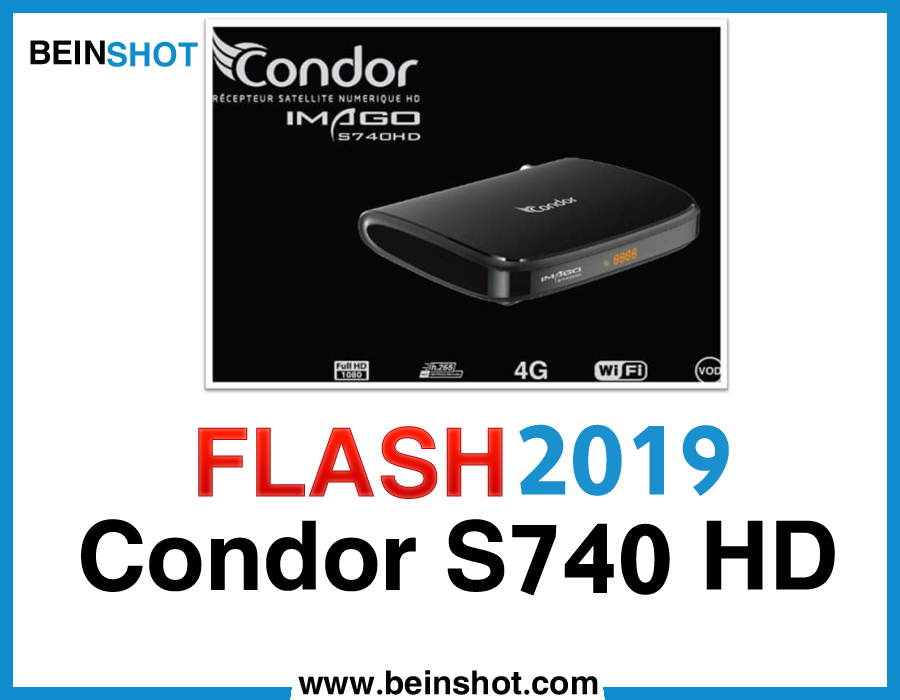 التحديث  الرسمي لجهاز  Condor S740 HD 2019