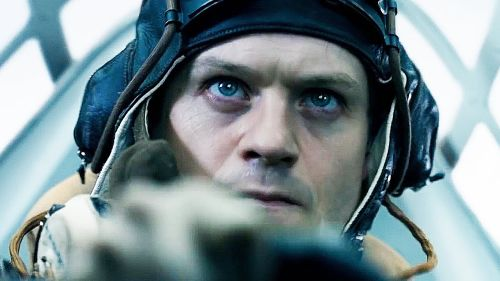 Iwan Rheon in Hurricane cockpit
