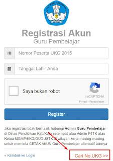 Cara Mencari Nomor Peserta UKG Secara Online