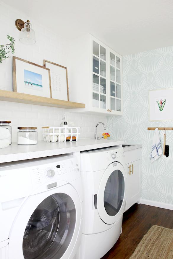 IHeart Organizing Laundry Room Storage Organization Wallpaper