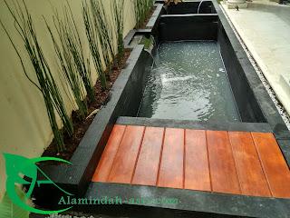 Kami alam indah asri yang melayani berbagai macam pembuatan kolam hias yang mulai dari kolam koi kolam relief kolam minimalis dan lainya