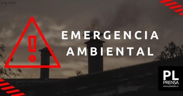 Emergencia Ambiental para este domingo 18