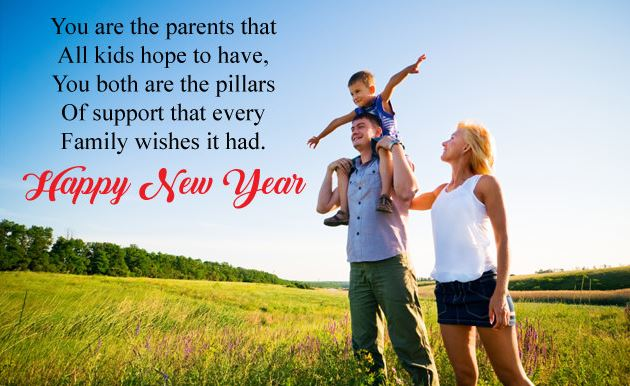 Happy New Year Wishes Quotes for Parents